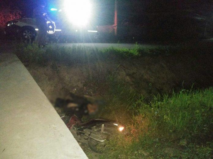Myanmar man dies in motorcycle accident in San Phi Suea