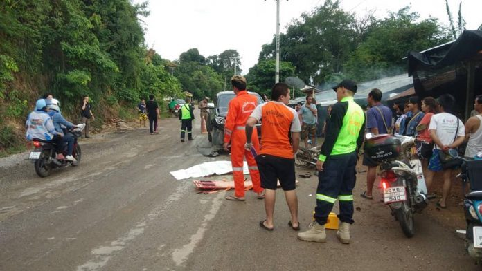Tai Yai man dies in Chiang Dao accident between motorcycle and