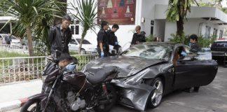 Red Bull Heir Crashes Car