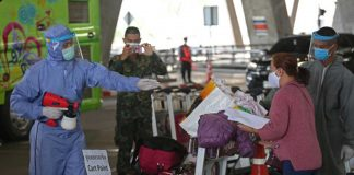 Thai Stopped For Disinfection Bangkok Airport