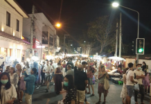 Walking Street Chiang Mai at Night