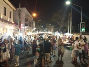 Walking Street Chiang Mai at Night