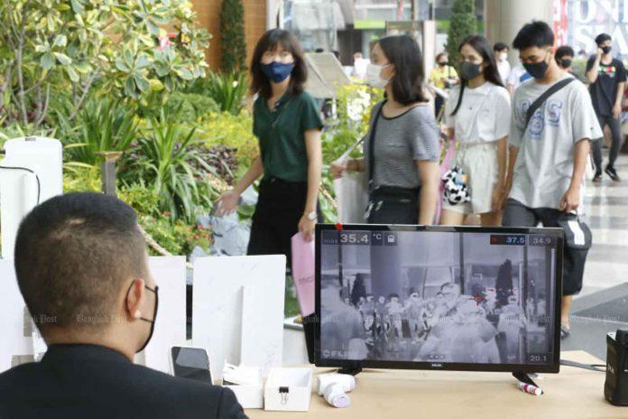 COVID Screening at Mall