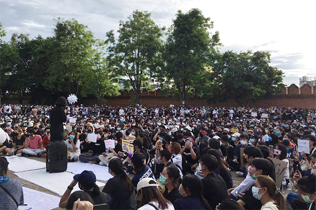 Protest in Chiang Mai