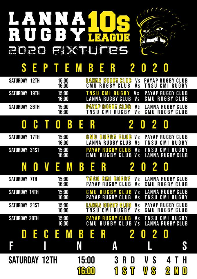 Lanna Rugby Fixtures 2020