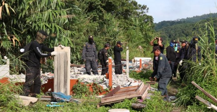 Illegal Resorts Torn Down