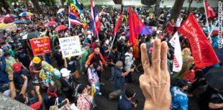 Protests in Bangkok Thailand
