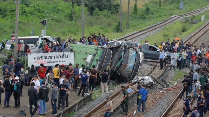 Bus and Train Accident