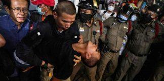 Protester Taken To Hospital
