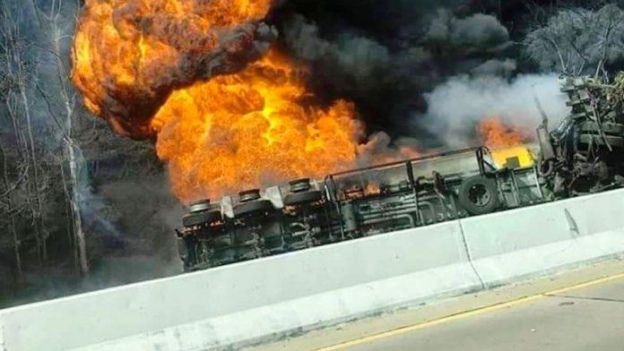 Fuel Tanker Fire Lamphun