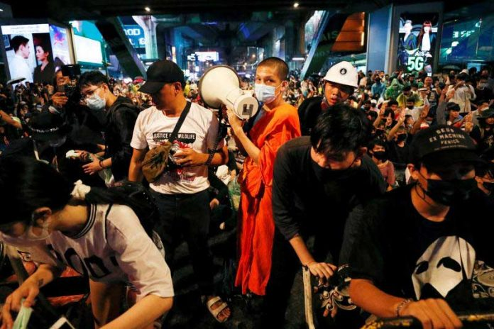 Monks Banned from Protests