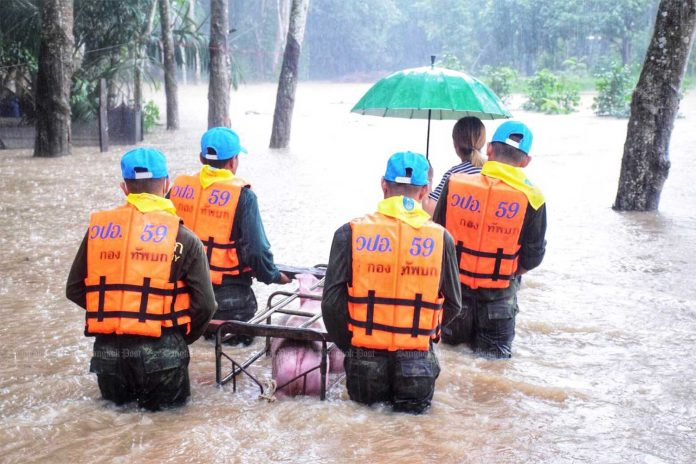 Flooding Southern Thailand