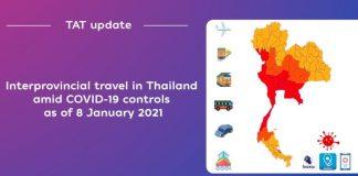 Interprovicial Travel Information Thailand