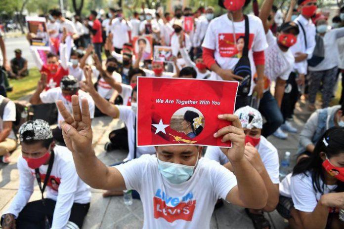 Myanmar Migrants Protest In Bangkok
