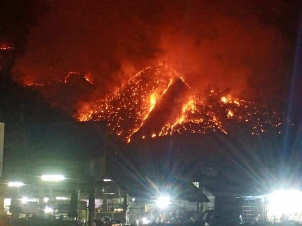 Mountain Fire Chiang Mai