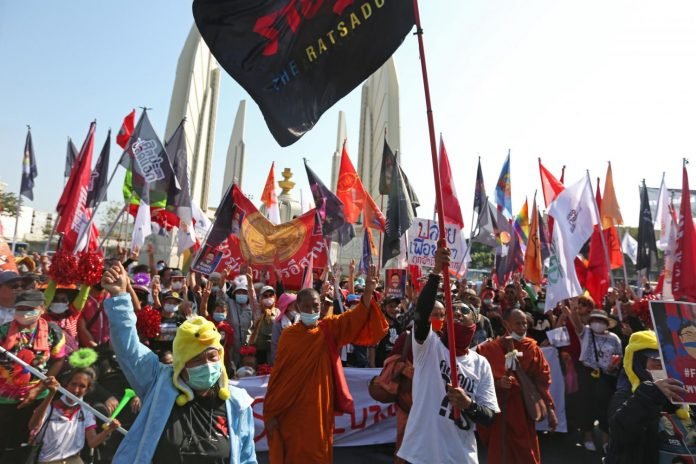 Protesters In Bangkok March 2021
