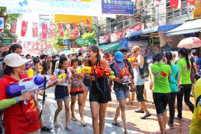 Songkran Water Splashing
