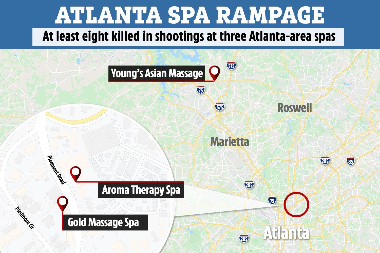 Spa Shooting Map