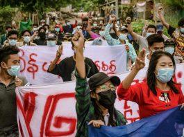 Myanmar Army In Mandalay